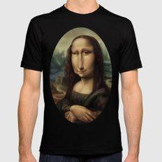 Mona Lisa Mens Fitted Tee MEDIUM Black