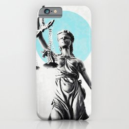 Lady of justice iPhone Case
