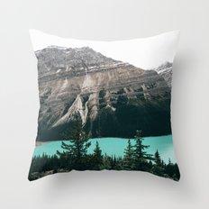 Peyto Lake II Throw Pillow