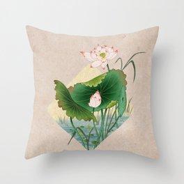 lotursflowers A : Minhwa-Korean traditional/folk art Throw Pillow