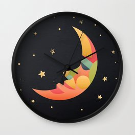 Imaginative Moon Wall Clock