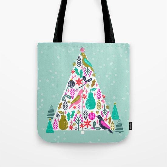 Christmas Tree by Andrea Lauren  Tote Bag