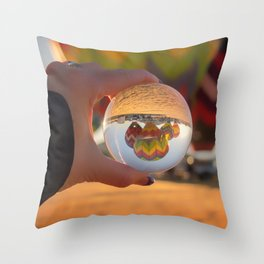 A Clearer View refraction photgraphy hot air balloons Throw Pillow