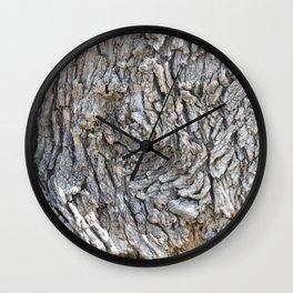 TEXTURES -- Blue Elderberry Bark Wall Clock