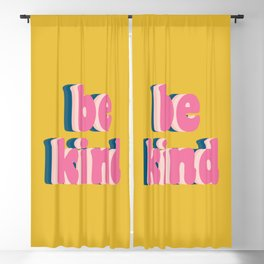 Be Kind Inspirational Anti-Bullying Typography Blackout Curtain