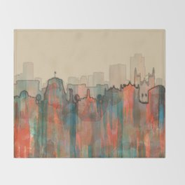 Wellington City Skyline, NZ - Navaho Throw Blanket