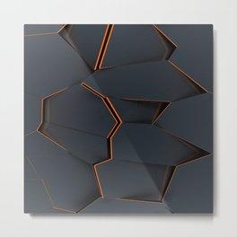 orange in the black bloc Metal Print