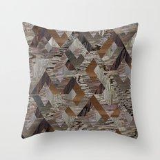 Wood Quilt Throw Pillow