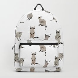 Raccoon pattern Backpack
