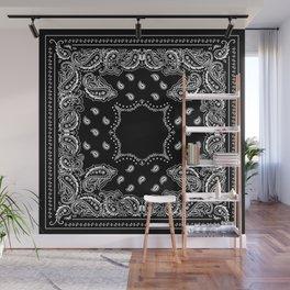Bandana Black & White Wall Mural