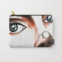 Brunette Carry-All Pouch