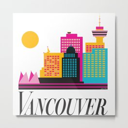 Vancouver Coal Harbour Metal Print