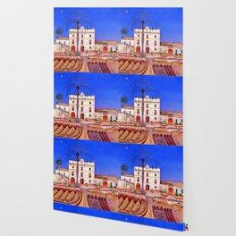Joan Miro House with Palm Tree Wallpaper