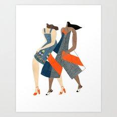Topshop gals Art Print