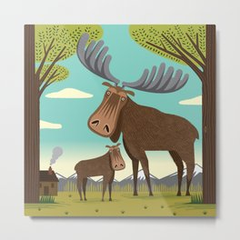 The Magnificent Moose Metal Print