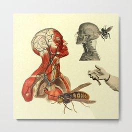 My soul is full of wasps Metal Print