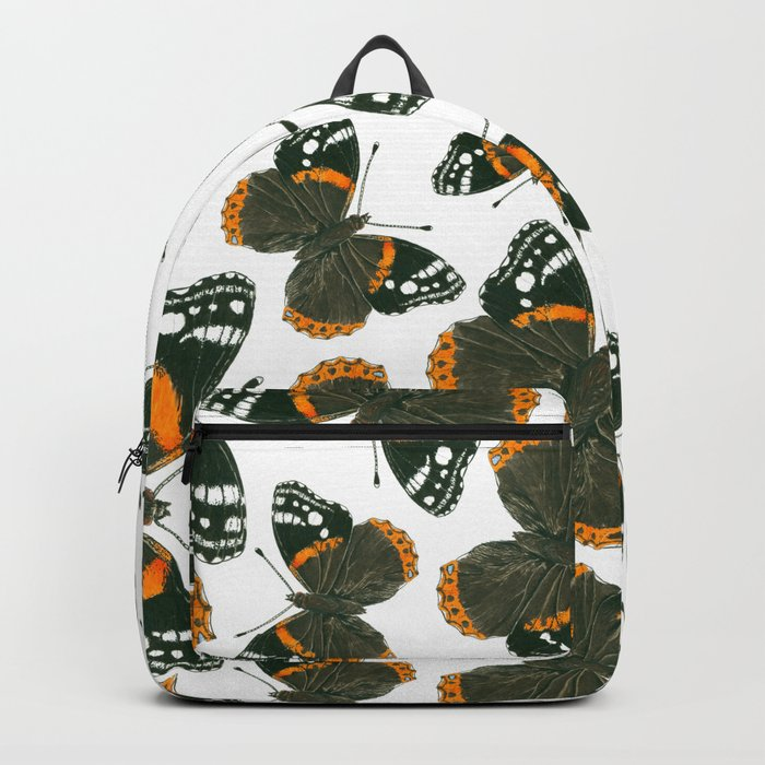 Red admiral butterfly  pattern Backpack