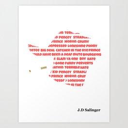 J.D Salinger Art Print