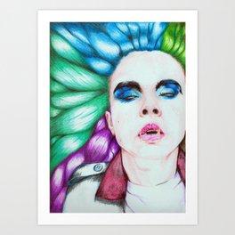 Bubblegum Vortex Art Print