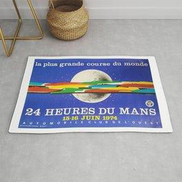 24hs Le Mans, 1974, original vintage poster Rug
