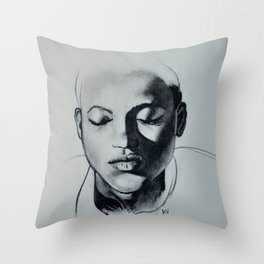Shadow Girl Throw Pillow