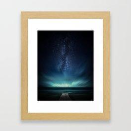 Space Dock Framed Art Print