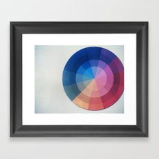 Color Wheel Polaroid Framed Art Print