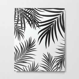 Palm Leaves Pattern Summer Vibes #2 #tropical #decor #art #society6 Metal Print
