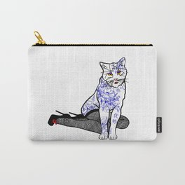 Porcelain Inked Cat Carry-All Pouch