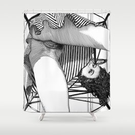asc 768 - La baronne perchée (The girl who was not afraid of heights) Shower Curtain