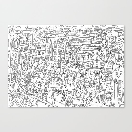 Budapest X Canvas Print