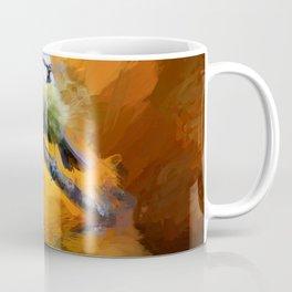 Tit Bird Abstract Painting Coffee Mug