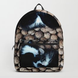 Two little kitties on some nuts Backpack