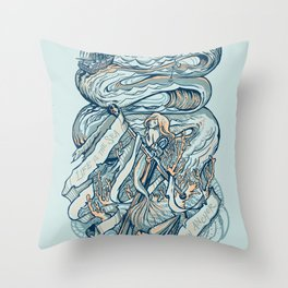 Life & Love at Sea Throw Pillow