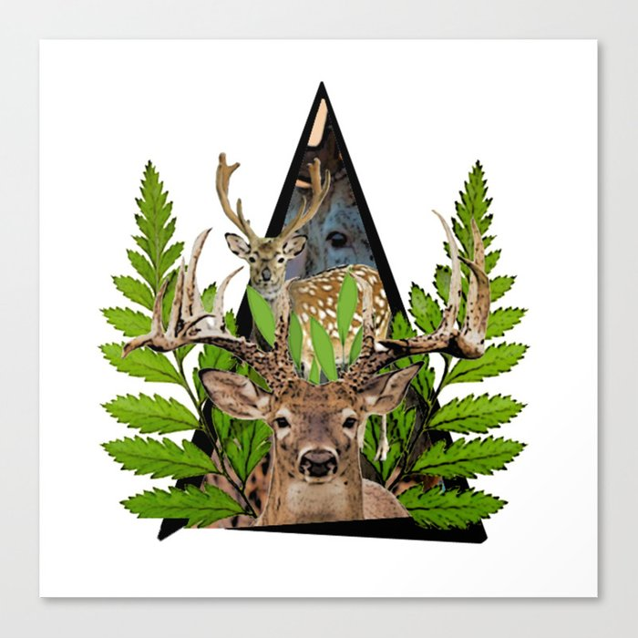 Jungle Animal Deer ArtWork Canvas Print