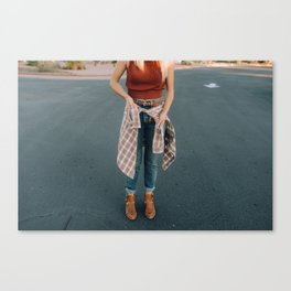 flannel and boots Canvas Print