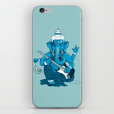 Ganesha rocks ! (v3) iPhone Skin
