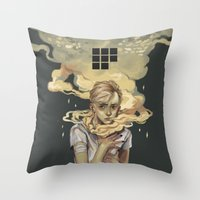 smoke Throw Pillows featuring Smoke by Arrrkal