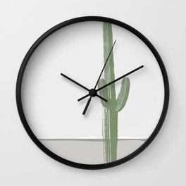 The Lonely Cactus - Winter Wall Clock