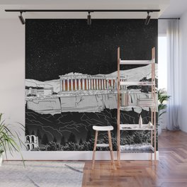 Parthenon black and white Wall Mural