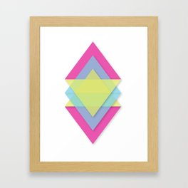 CMY Pattern Framed Art Print