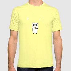 The Happy Ice Cream SMALL Mens Fitted Tee Lemon