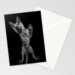 Husky from underneath Stationery Cards