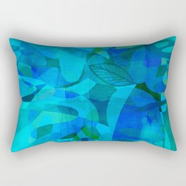 Blue For You abstract art by Ann Powell Rectangular Pillow