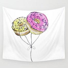 Doughnut Balloons Wall Tapestry