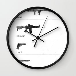 Typographer's Arsenal Wall Clock