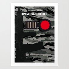 No523 My Universal Soldier minimal movie poster Art Print