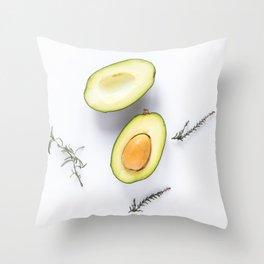 Avocado Slices Throw Pillow