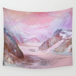 Rainbow Mountain Wall Tapestry