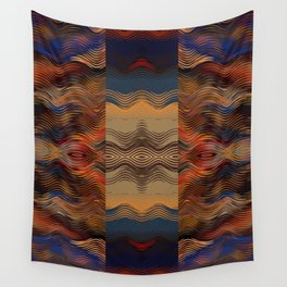 Under the Blanket of Sunset Native American Inspired Pattern Wall Tapestry